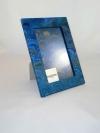 Portafoto in carta marmorizzata mr turchese