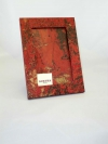 Portafoto in carta marmorizzata mr rosso